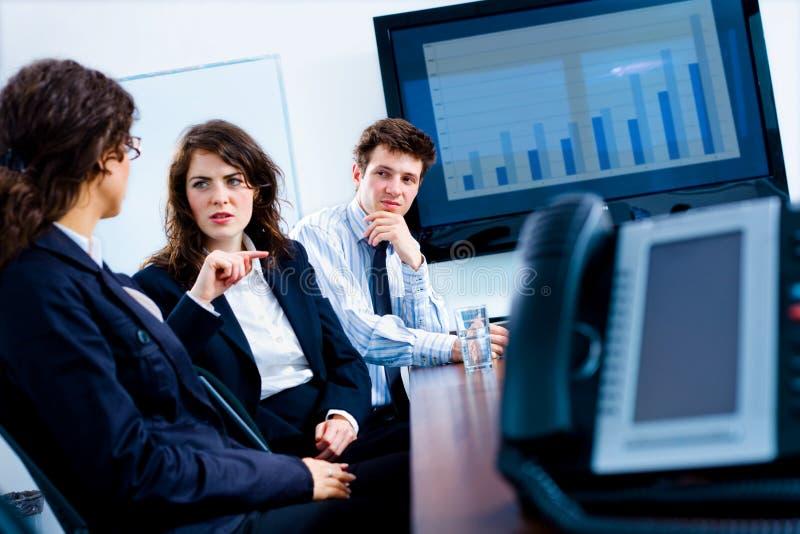 Bedrijfs mededeling stock foto