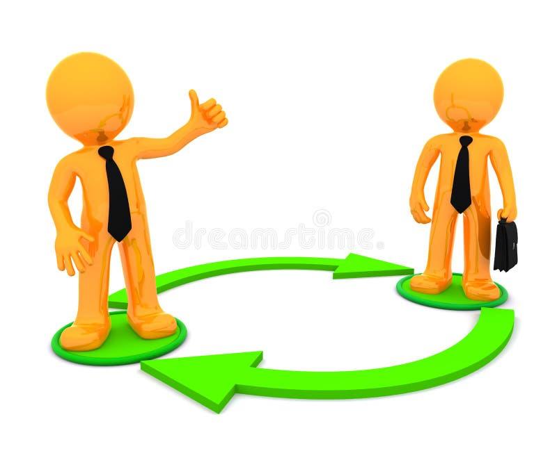 Bedrijfs mededeling. Conceptuele illustratie royalty-vrije illustratie