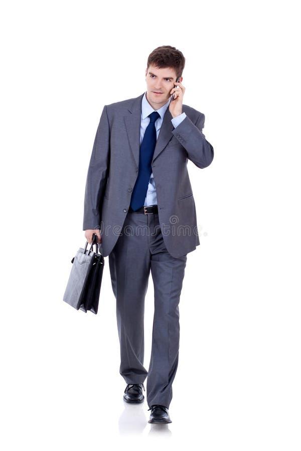 Bedrijfs mens die vooruit loopt stock afbeelding