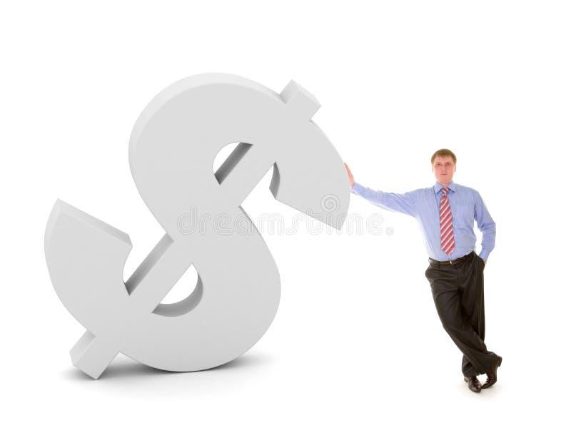 Bedrijfs mens en dollarteken stock illustratie
