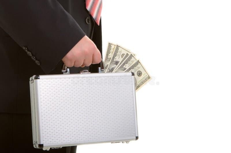 Bedrijfs mens en geld stock afbeeldingen