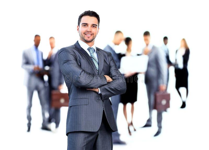 Bedrijfs mens en zijn team royalty-vrije stock afbeeldingen