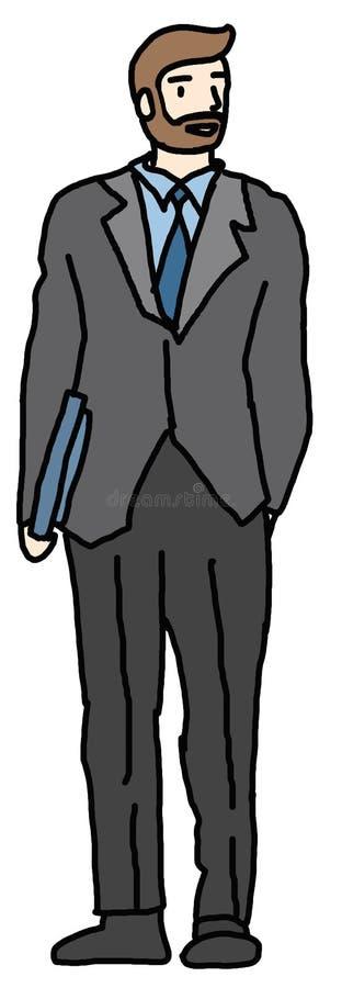 Bedrijfs mens in kostuum vector illustratie