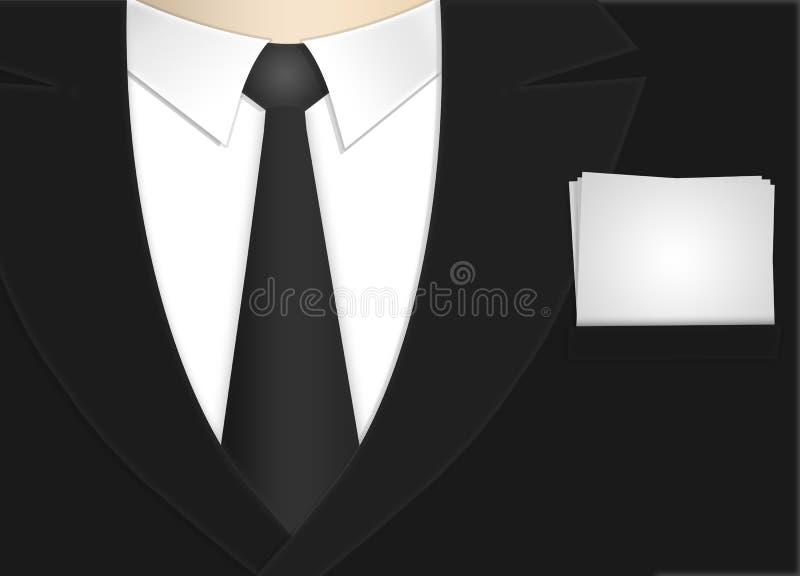 Bedrijfs mens met document vector illustratie