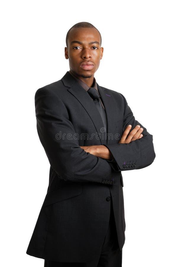 Bedrijfs mens met ernstige gelaatsuitdrukking stock foto