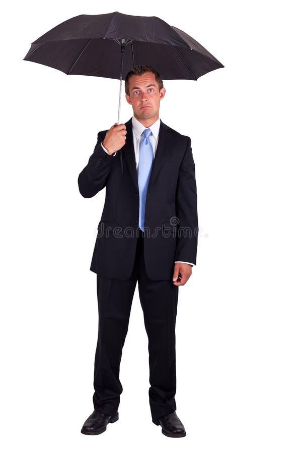 Bedrijfs mens met paraplu stock foto's
