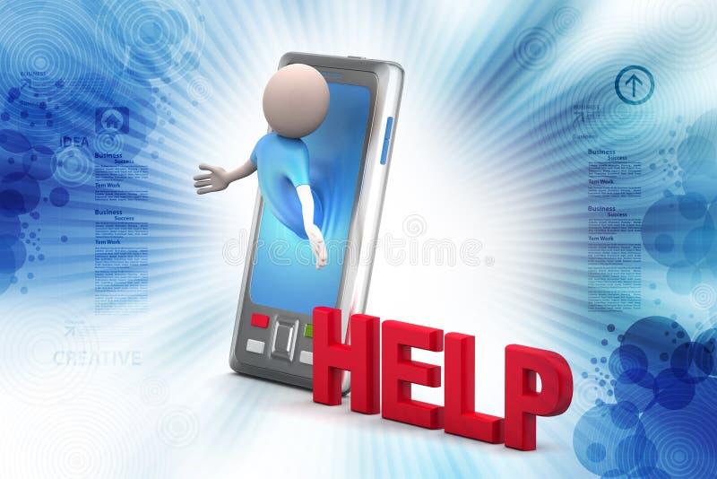 Bedrijfs Mens met Slimme Telefoon vector illustratie