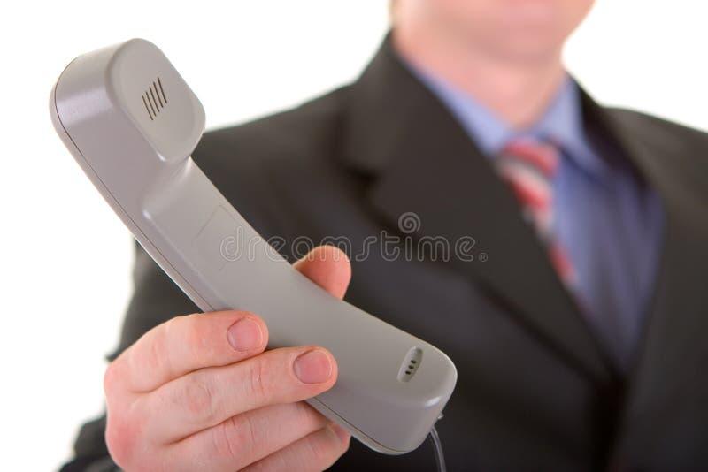 Bedrijfs mens met telefoon royalty-vrije stock foto