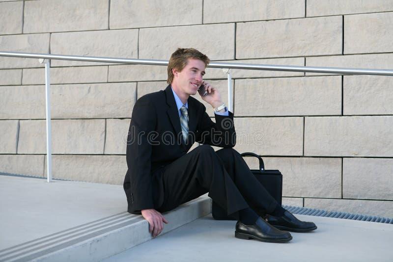 Bedrijfs Mens op Onderbreking stock afbeeldingen