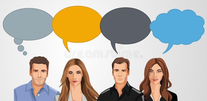 Download Bedrijfs mensen vector illustratie. Illustratie bestaande uit zaken - 54085676