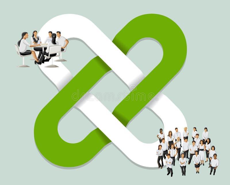 Download Bedrijfs mensen vector illustratie. Illustratie bestaande uit out - 54085764
