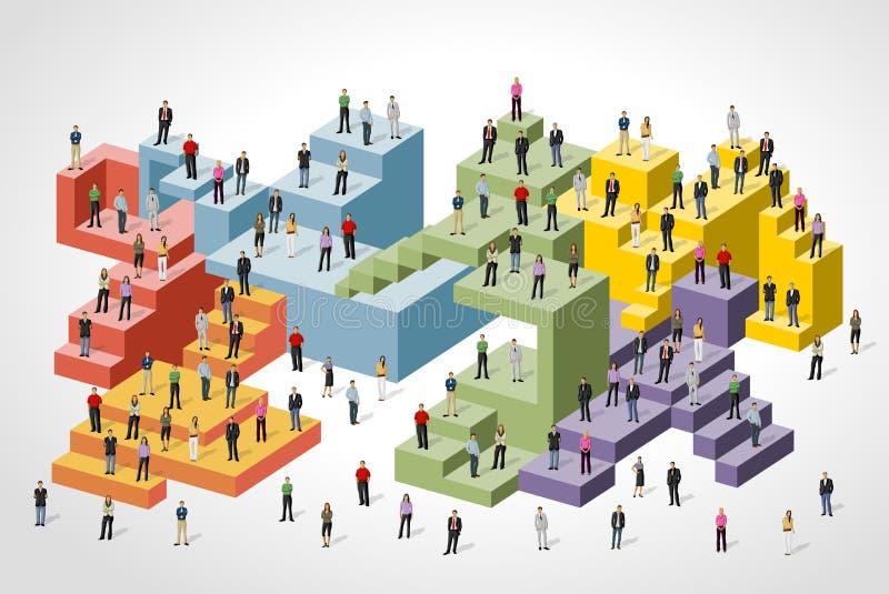 Download Bedrijfs mensen vector illustratie. Illustratie bestaande uit pagina - 54085982