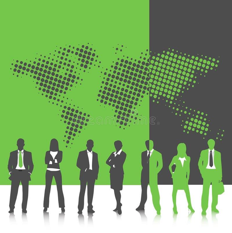 Bedrijfs mensen stock illustratie