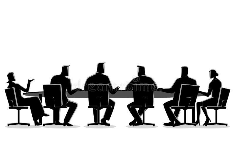 Bedrijfs mensen die een vergadering hebben royalty-vrije illustratie