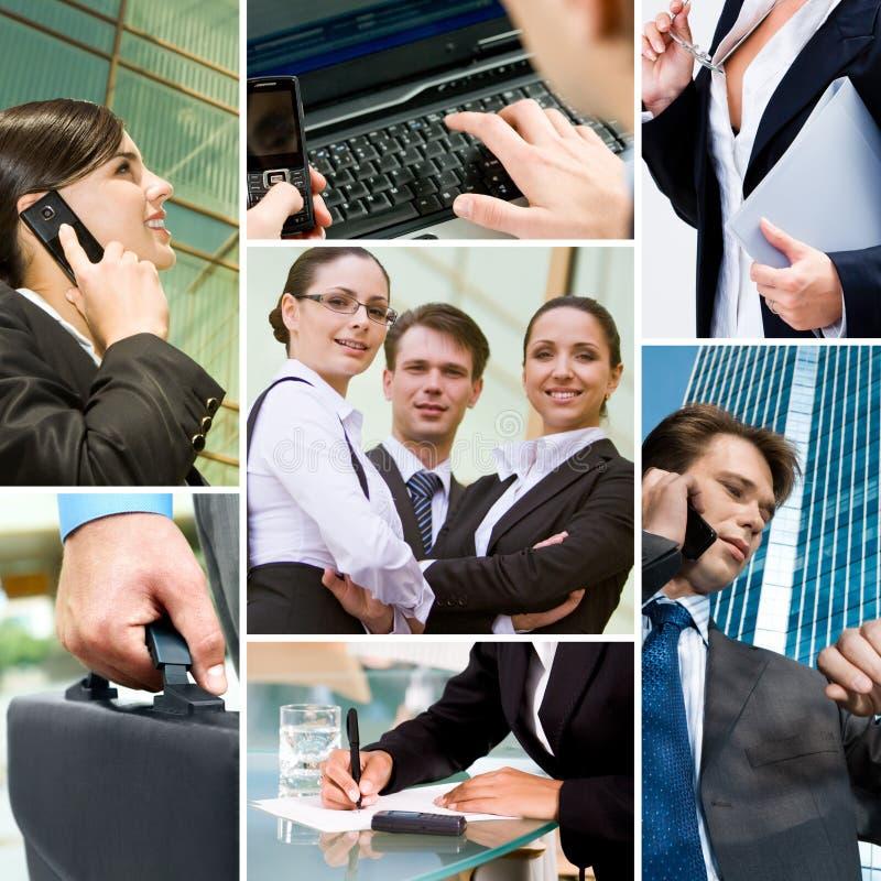Bedrijfs mensen en technologie royalty-vrije stock afbeelding