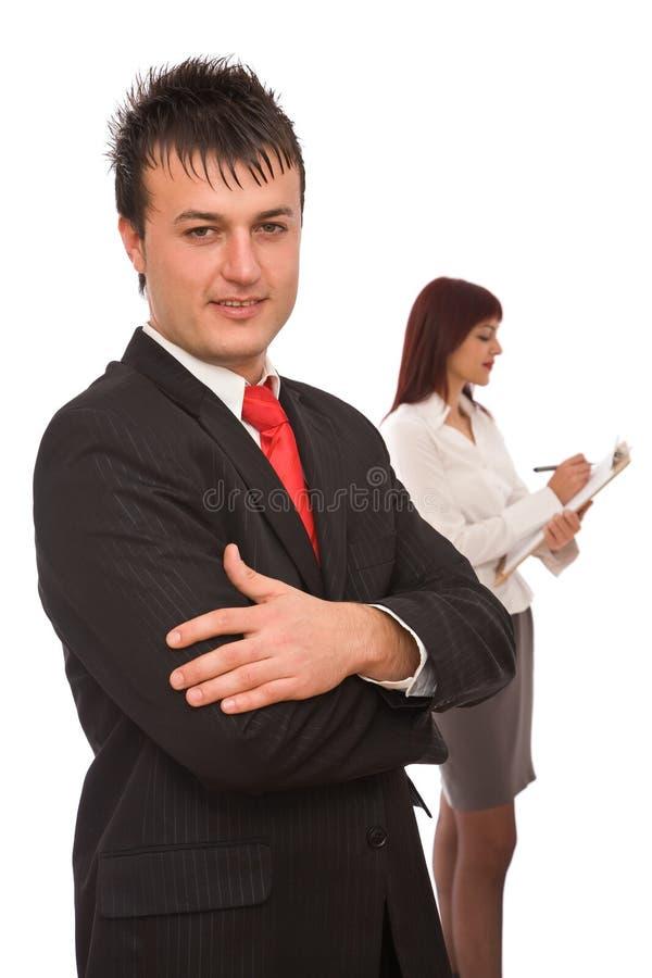 Bedrijfs mensen gelukkig op kantoor royalty-vrije stock foto