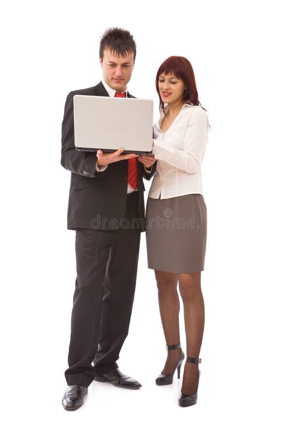 Bedrijfs mensen gelukkig op kantoor stock fotografie
