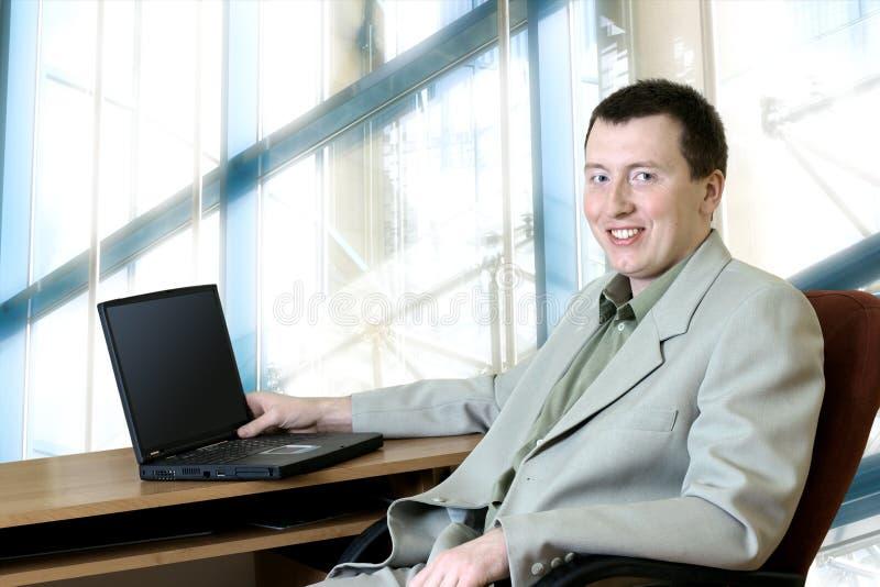 Bedrijfs Mensen - Mens in Zijn Bureau royalty-vrije stock foto's