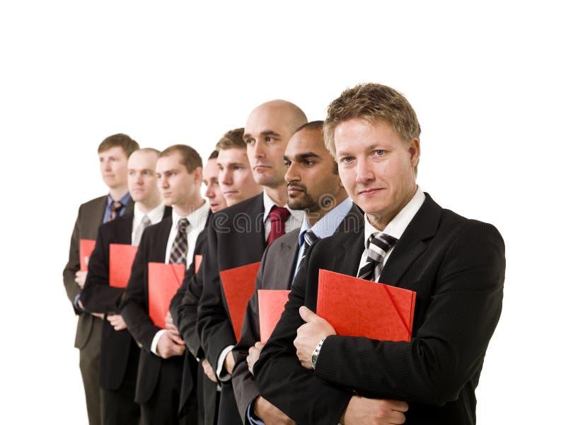 Bedrijfs mensen met documenten stock foto