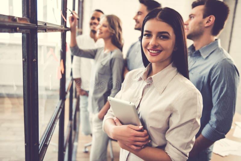 Bedrijfs mensen op de conferentie royalty-vrije stock foto