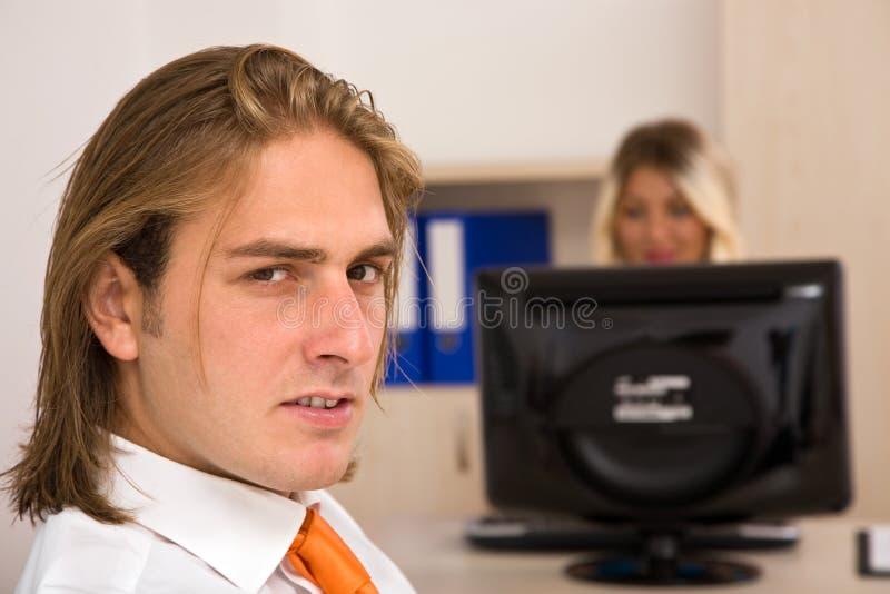 Bedrijfs mensen op het kantoor stock fotografie