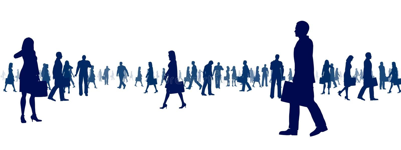 Bedrijfs Mensen Sihouette stock illustratie