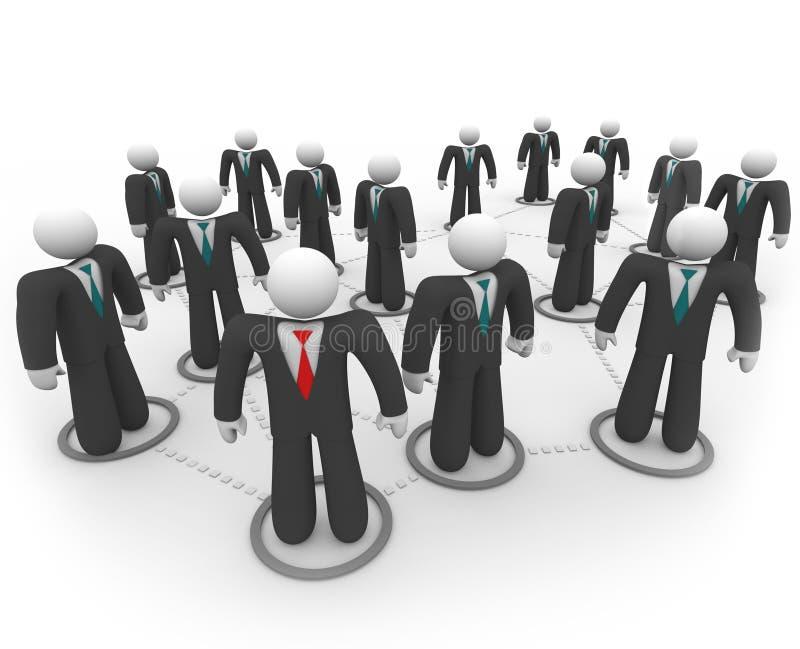 Bedrijfs Mensen in Sociaal Netwerk stock illustratie