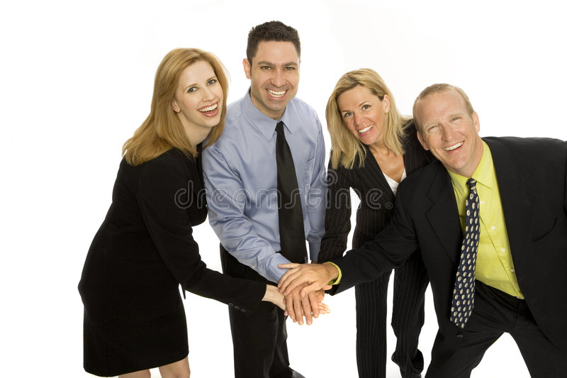Bedrijfs mensengroepswerk royalty-vrije stock afbeelding