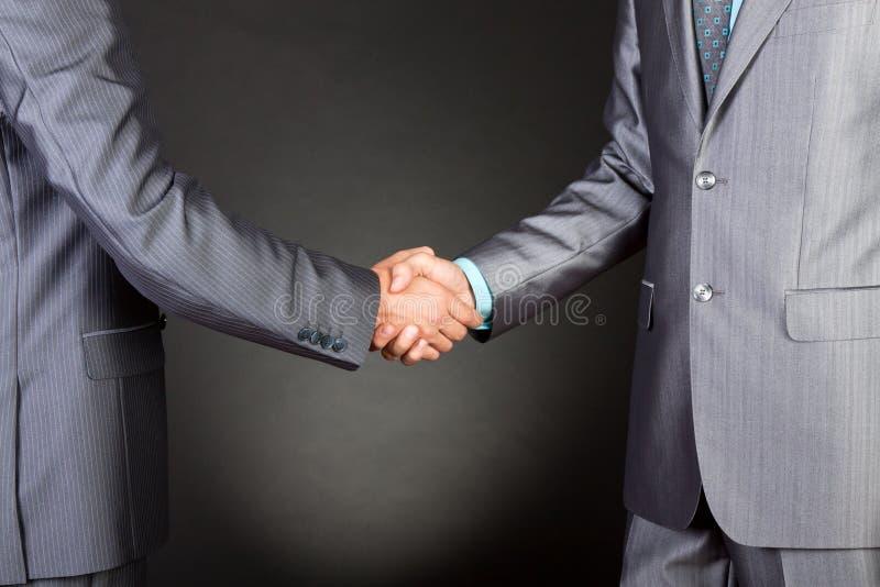 Bedrijfs mensenhanddruk royalty-vrije stock afbeeldingen