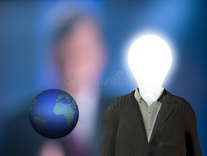 Bedrijfs mensenidee royalty-vrije illustratie
