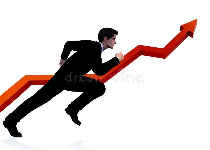 Bedrijfs mensenlooppas voor succes stock illustratie