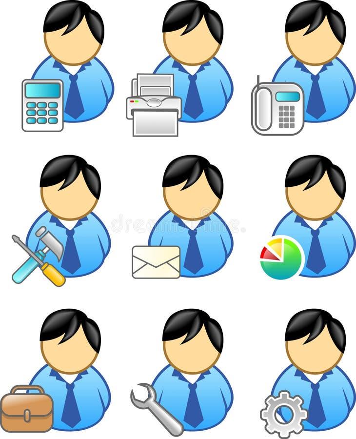 Bedrijfs mensenpictogram vector illustratie