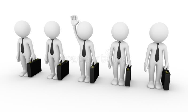 Bedrijfs mensenselectie stock illustratie