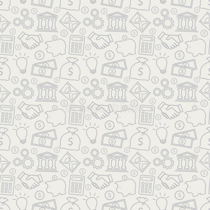 Bedrijfs naadloos patroon Het kan voor prestaties van het ontwerpwerk noodzakelijk zijn stock illustratie