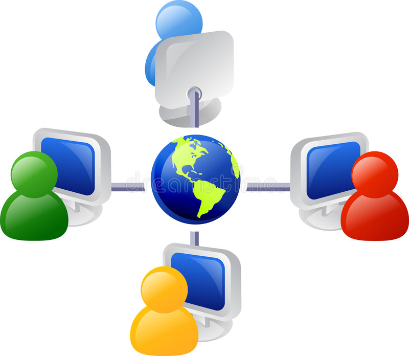 Bedrijfs netwerk royalty-vrije illustratie