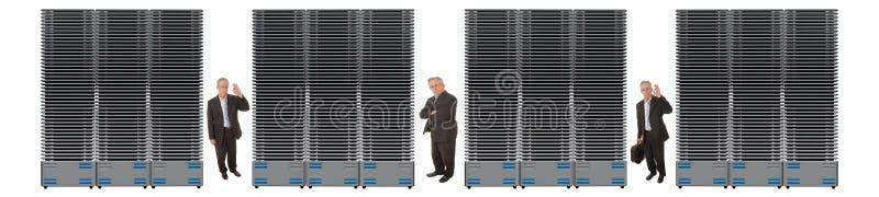 Bedrijfs Netwerk van Servers royalty-vrije stock fotografie