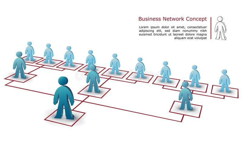 Bedrijfs netwerkconcept stock illustratie