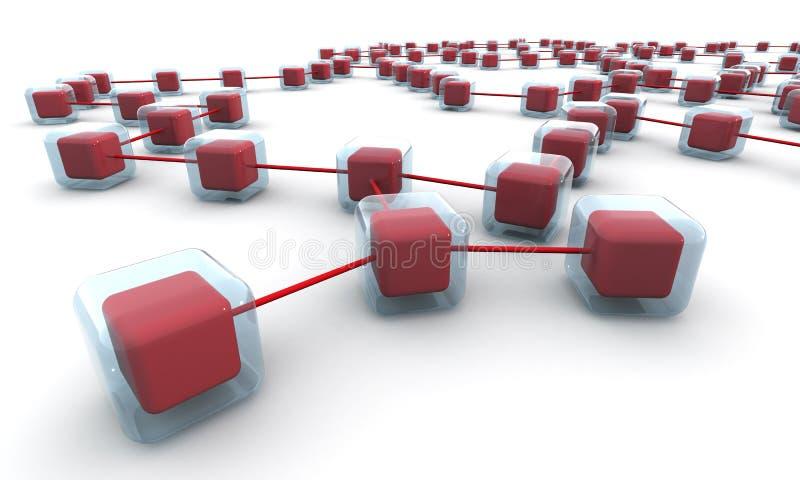 Bedrijfs netwerkstructuur of aansluting concept vector illustratie