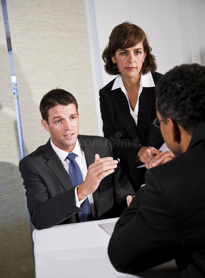 Bedrijfs onderhandeling stock afbeelding