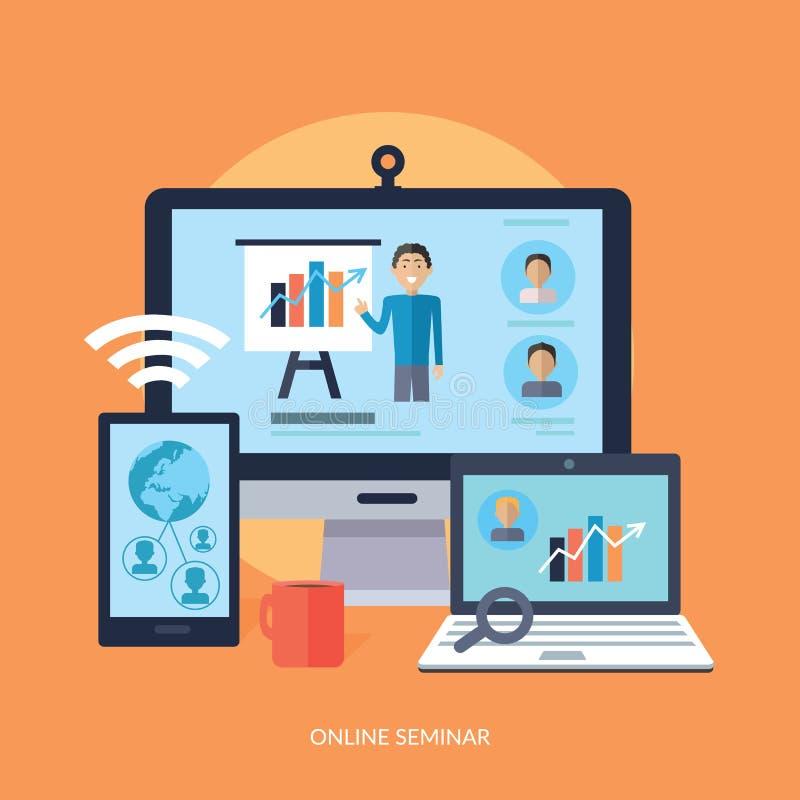 Bedrijfs Online Seminarieconcept royalty-vrije illustratie