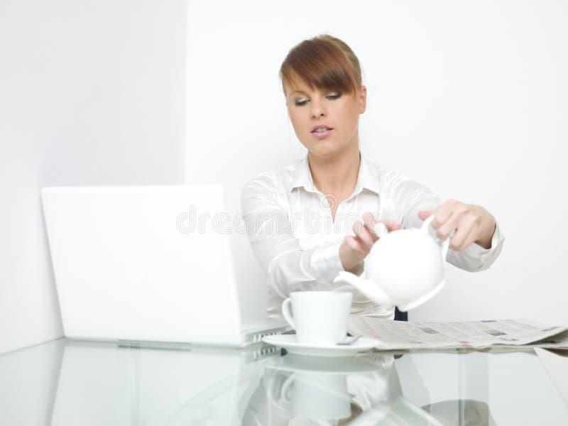 Bedrijfs Ontbijt royalty-vrije stock foto