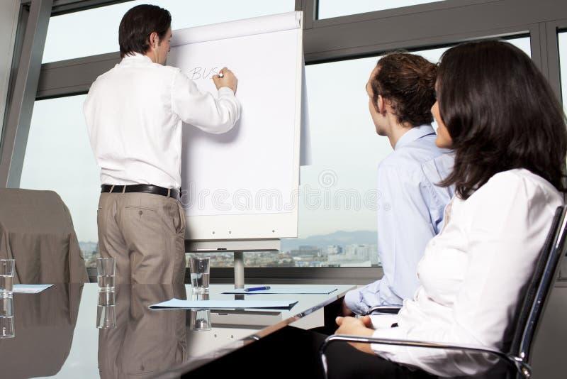 Bedrijfs opleiding stock foto
