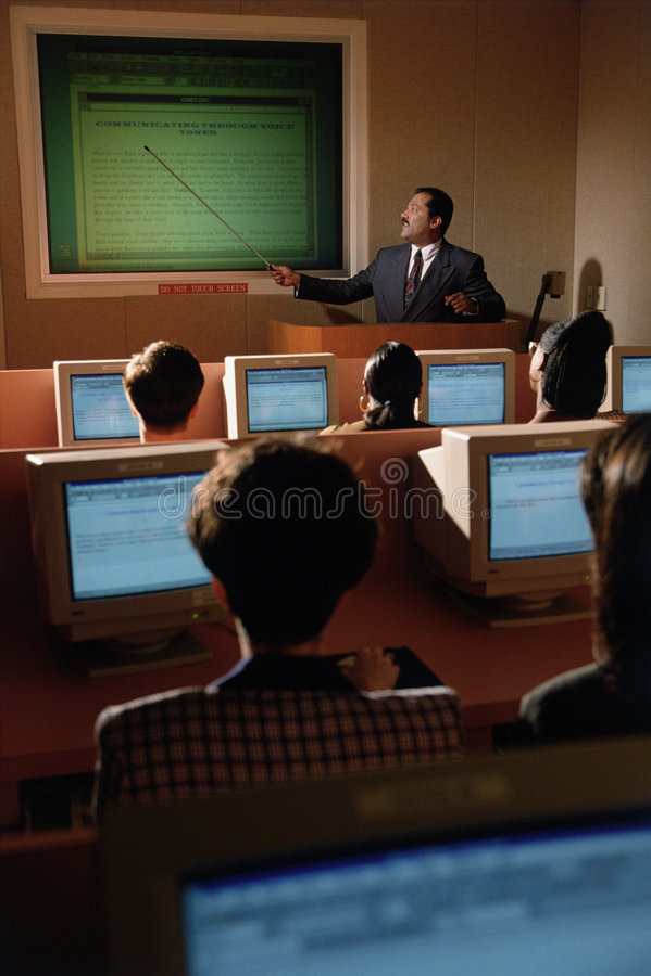 Bedrijfs opleiding stock fotografie