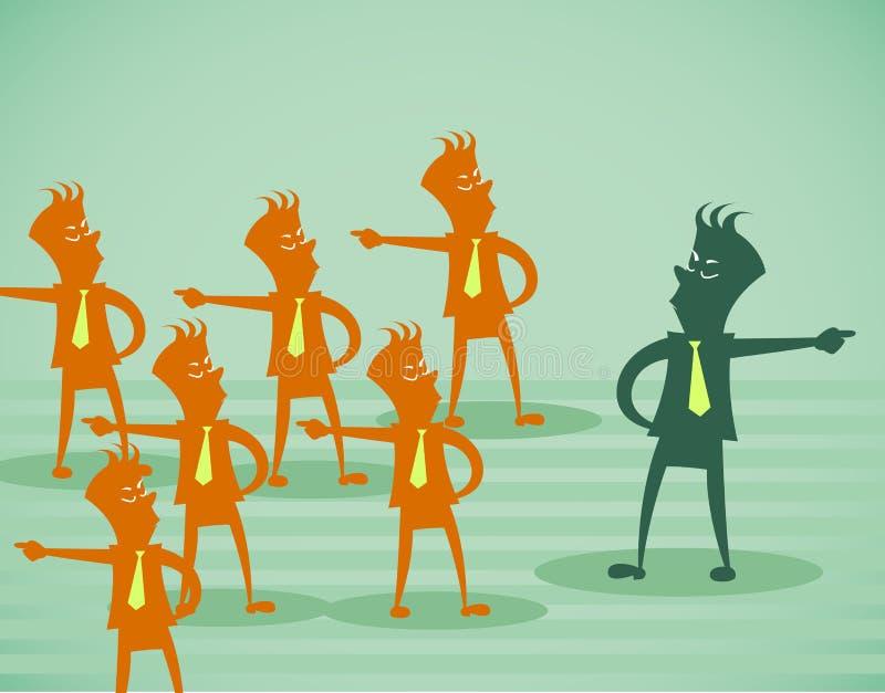 Bedrijfs oppositie stock illustratie