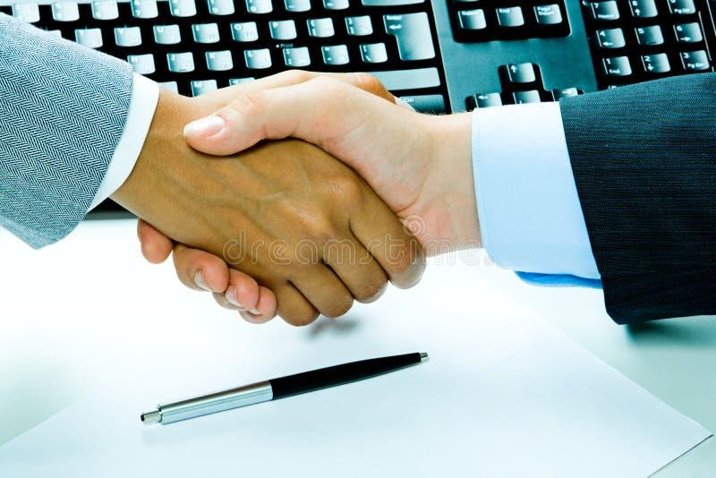 Bedrijfs overeenkomst stock afbeelding