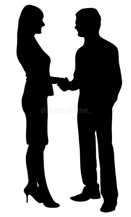 Bedrijfs overeenkomst vector illustratie