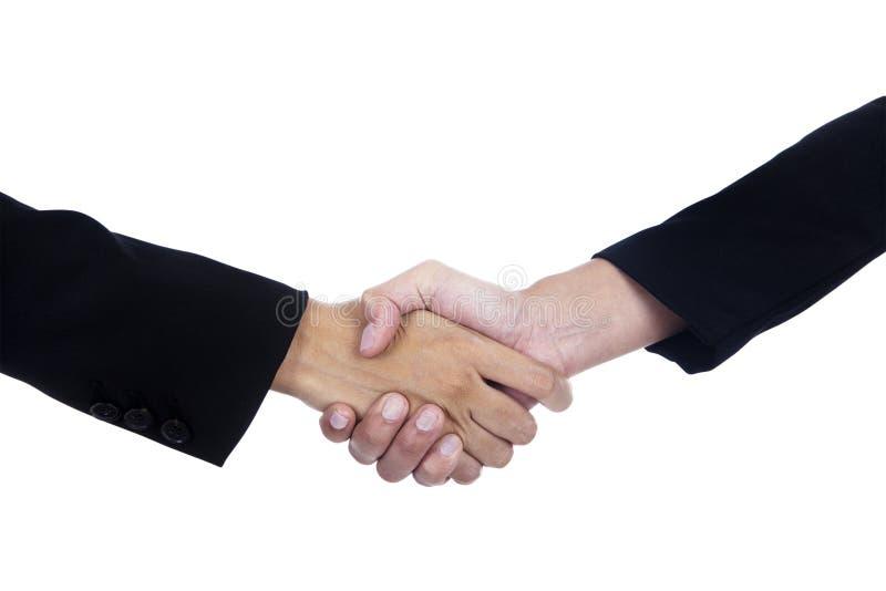 Bedrijfs overeenkomstenhanddruk royalty-vrije stock afbeelding