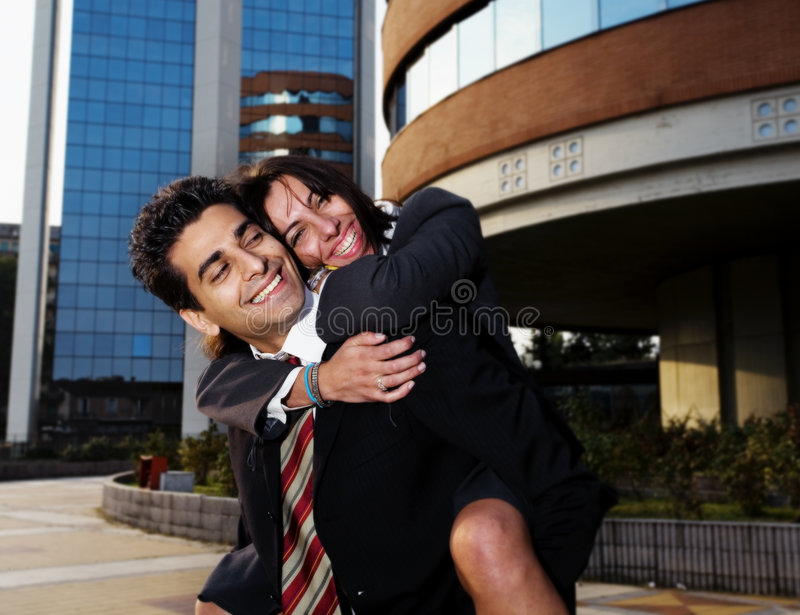 Bedrijfs paar royalty-vrije stock foto