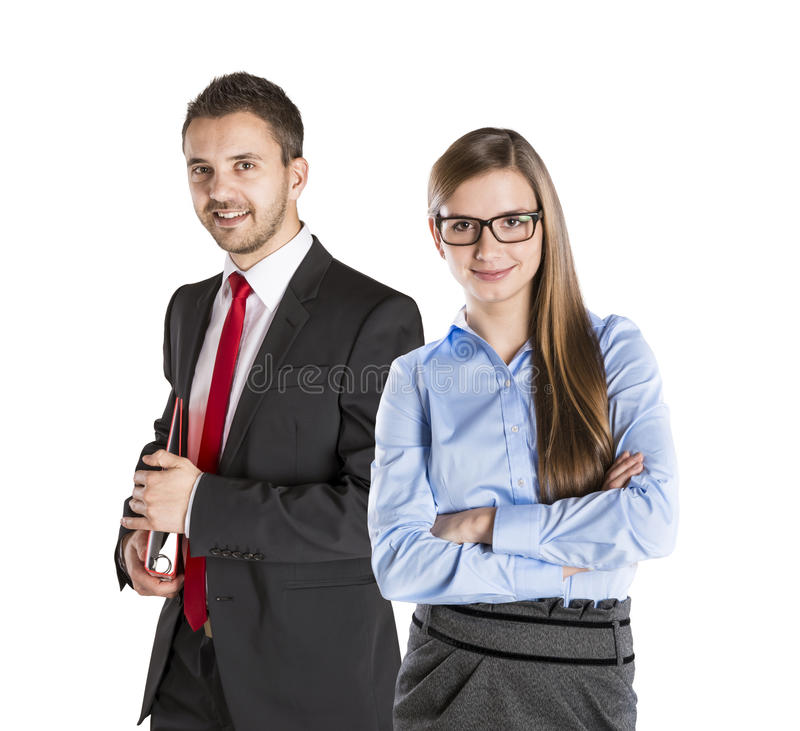Bedrijfs paar stock foto