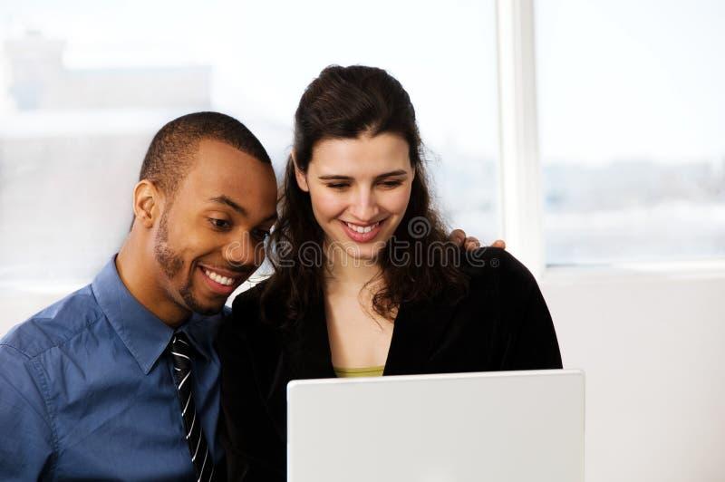 Bedrijfspaar stock foto